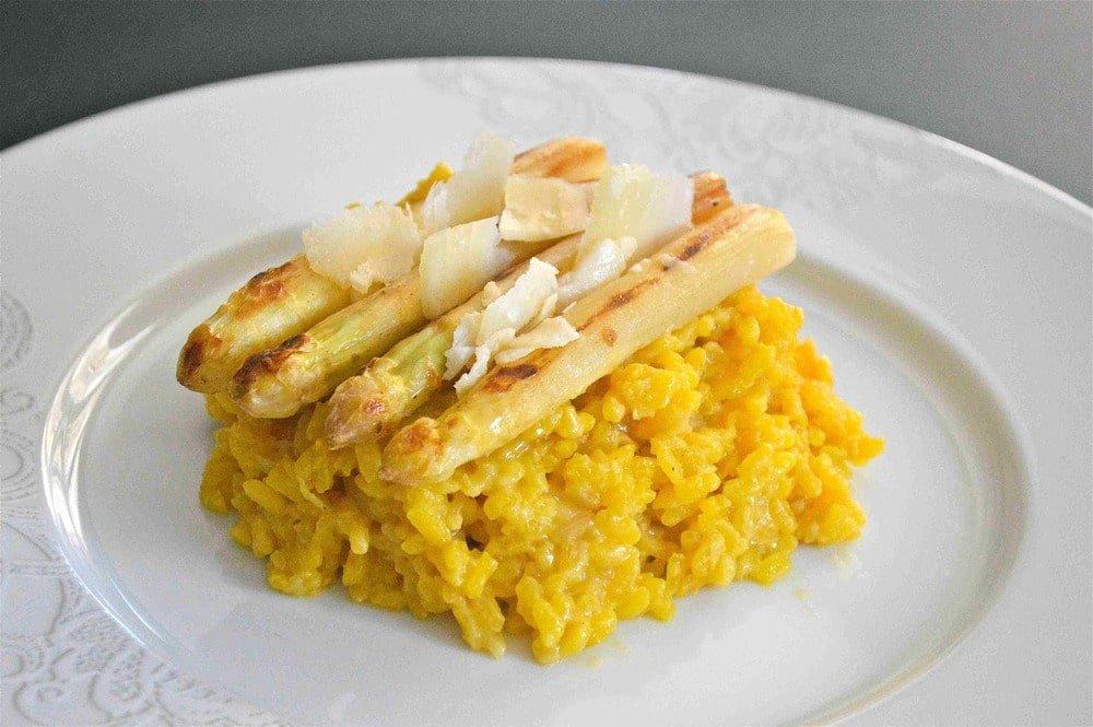 recette du risotto aux asperges et au safran