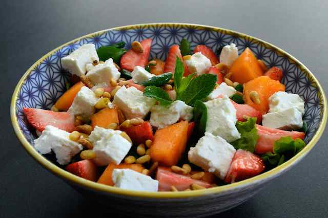 Salade+fraise+melon