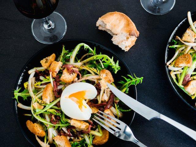 salade de pissenlits d'Alsace
