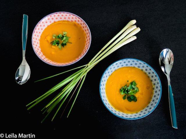 soupe courge butternut Alsace, coco et citronnelle