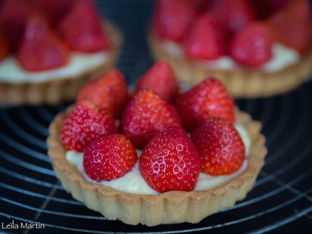 une tartelette aux fraises d'Alsace