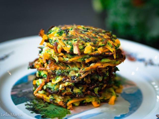 Des galettes de légumes et chou kale façon grumbeerekiechele