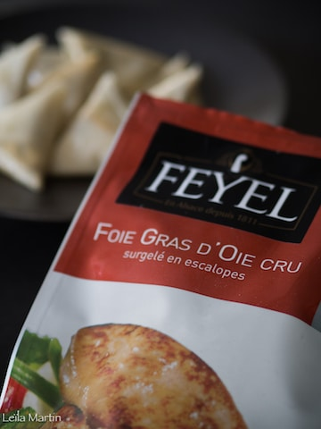 sachet d'escalopes de foie gras d'oie cru surgelé Feyel
