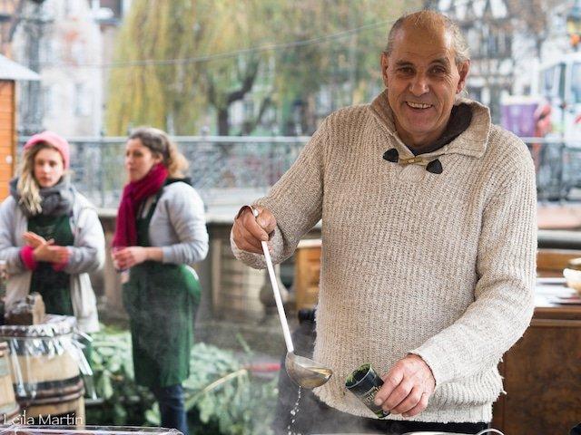 Charles Brand, Co-Président de la Tribu des Gourmets et son vin chaud au vin blanc d'Alsace