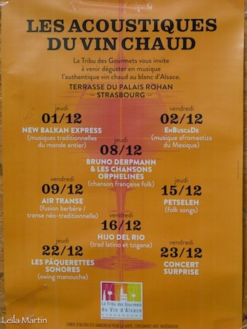 Affiche programme Les acoustiques du vin chaud