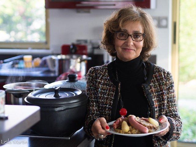 Mamie Faty vous présente sa délicieuse choucroute cuite au vin blanc d'Alsace