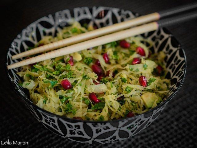 une idée de salade detox pour profiter des bienfaits de la choucroute crue sur la santé