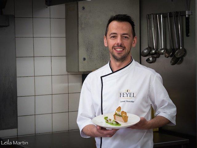 Le portrait de Lionel Hunckler, chef ambassadeur de la maison de foie gras alsacienne Feyel