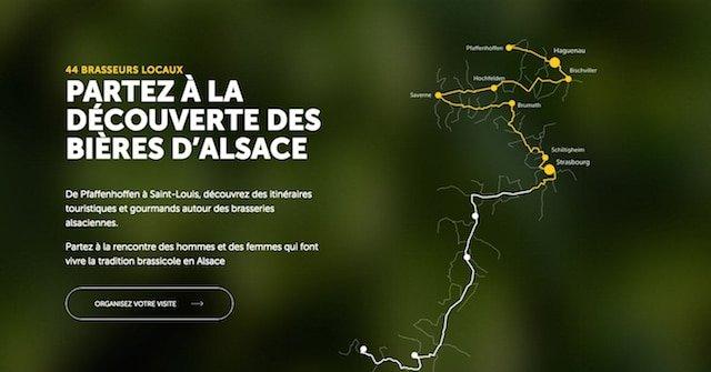 Image du parcours brassicole en Alsace proposé par le portail web au gré des bières