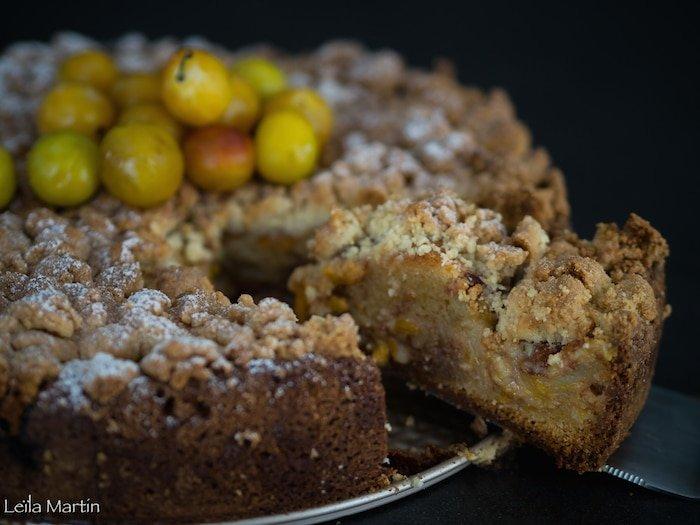 recette du gâteau carry streusel aux mirabelles et à la cannelle