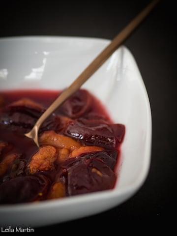 recette de soupe de quetsches au Pinot noir d'Alsace