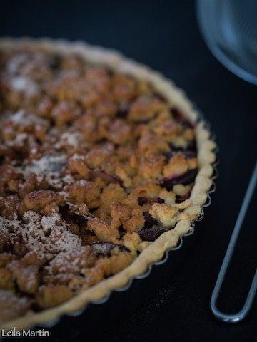 recette de tarte streusel alsacienne aux quetsches et à la cannelle