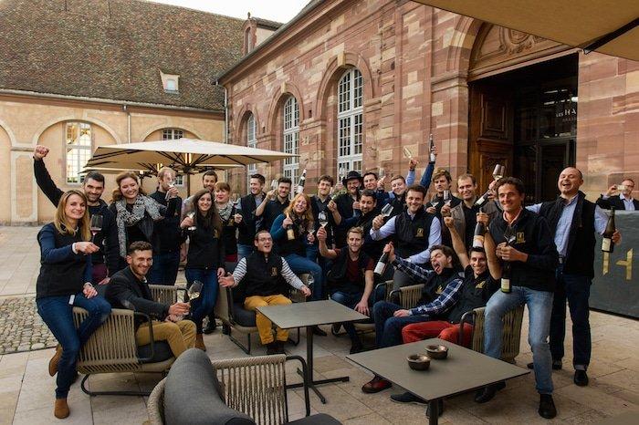 photo jeunes vignerons d'Alsace lors de la soirée de lancement de la Formule Jeunes