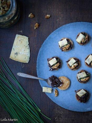 recette de Griesknepfle aux noix, oignons confits et bleu d'Hachimette
