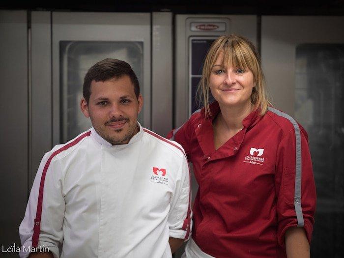 portrait de Nelly Edel (responsable de restaurant) et de Julien Ronneburg (chef de cuisine) à L'Alsacienne de Restauration