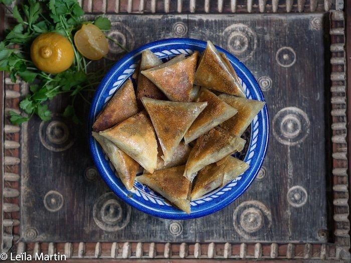Recette de samoussas de foie gras, dattes, citron confit et foie gras
