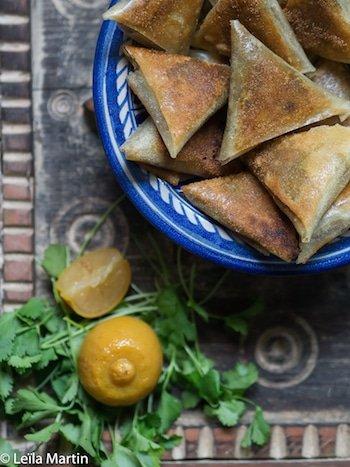recette de Samoussas foie gras, dattes, citron confit et gingembre