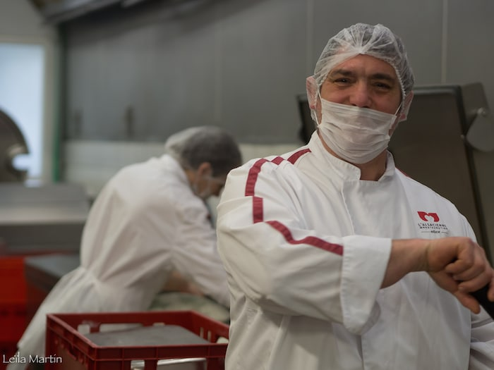 Photo de Thierry Beyer, le chef de la cuisine centrale de L'Alsacienne de restauration