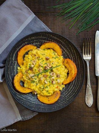 recette de risotto de knefple au potimarron et au gorgonzola