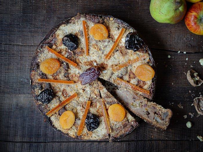 recette de mendiant alsacien (bettelmann) pomme, poire et fruits secs