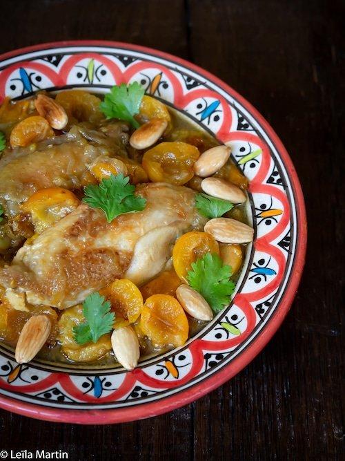 La recette du tajine de poulet aux mirabelles et au safran d'Alsace de Leïla Martin